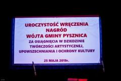 Uroczystość wręczenia Nagród Wójta Gminy Pysznica w dziedzinie kultury - 25.05.2019r.